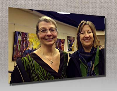 Art Reach Opening Reception, lucia & Eve Elden